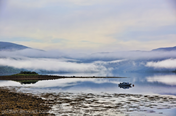 Morning Mist and boats on Loch Fyne 3/6