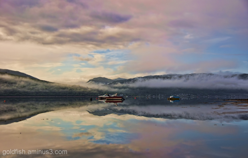 Morning Mist and boats on Loch Fyne 4/6