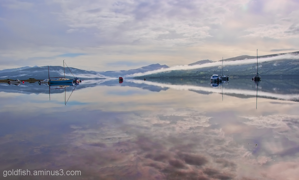 Morning Mist and boats on Loch Fyne 6/6