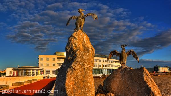Cormorant Statue - Morecambe Bay