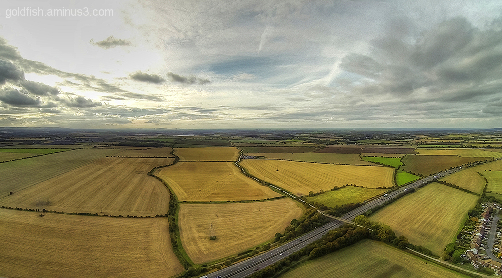 Drone's Eye View Of Drayton 3/6