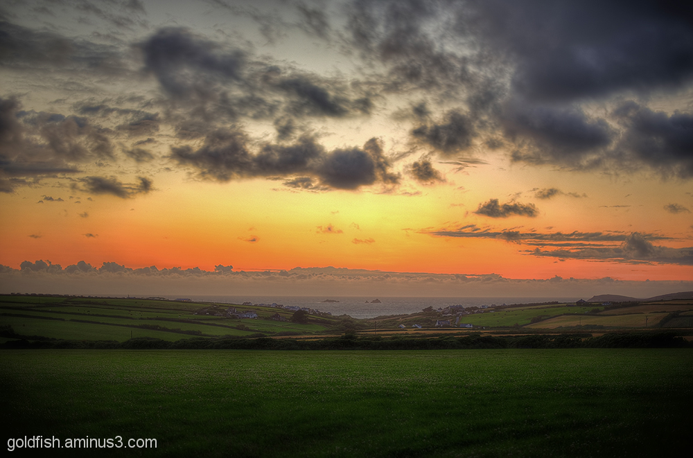 Sunset Over Treyarnon