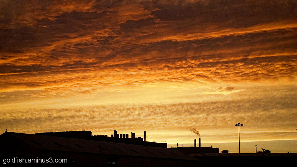Factory Sunset 3/4