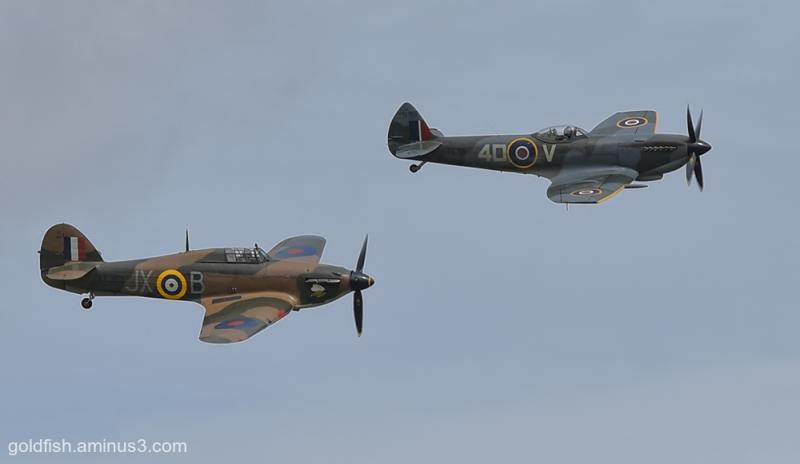 Hawker Hurricane and Supermarine Spitfire