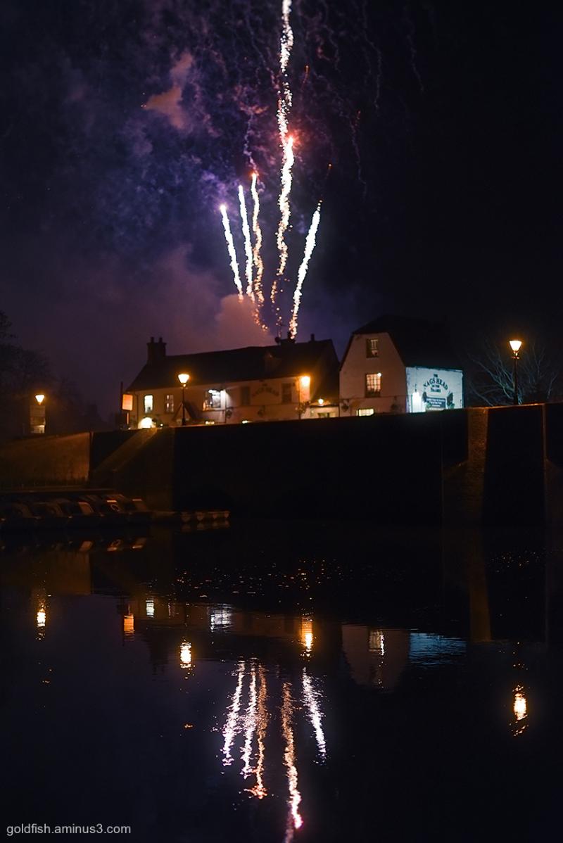 Abingdon's Xmas Lights Switch On Fireworks iv