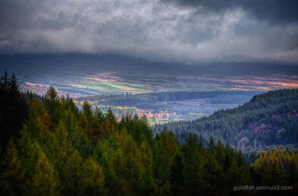Three Loch Drive View