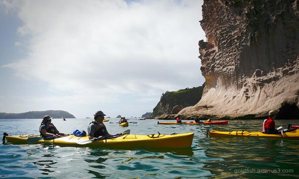 Kayaking @ Cathedral Cove
