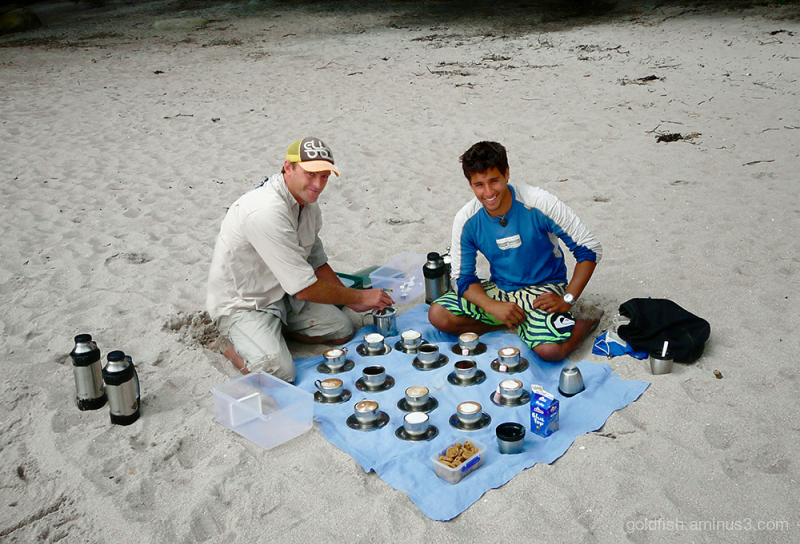 Baristas on the Beach