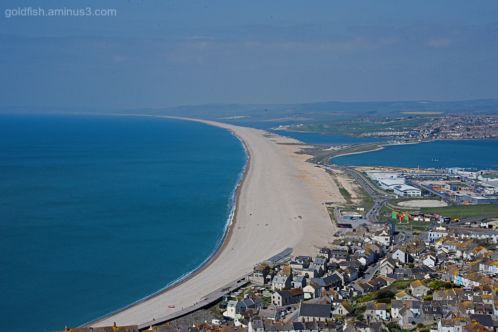 Chesil Beach Viewed from Portland Heights