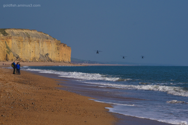 West Bay & The Three Chinooks