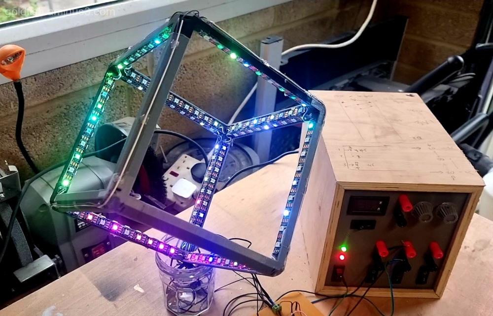 Infinity LED Cube iii - Naked