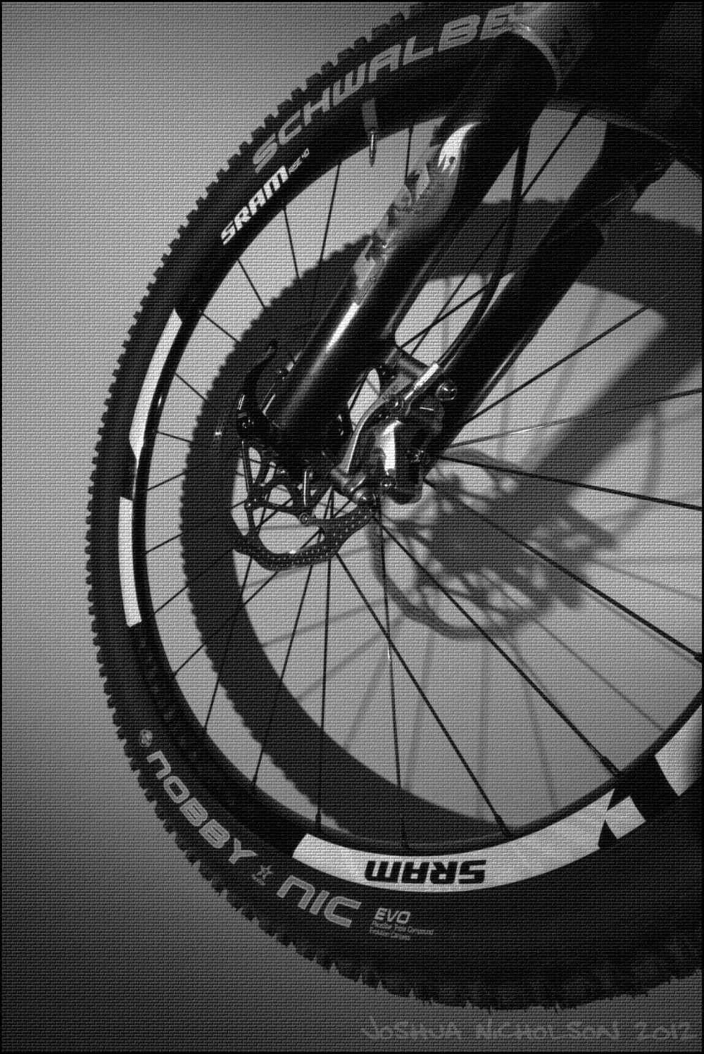 Mountain bike MTB wheel