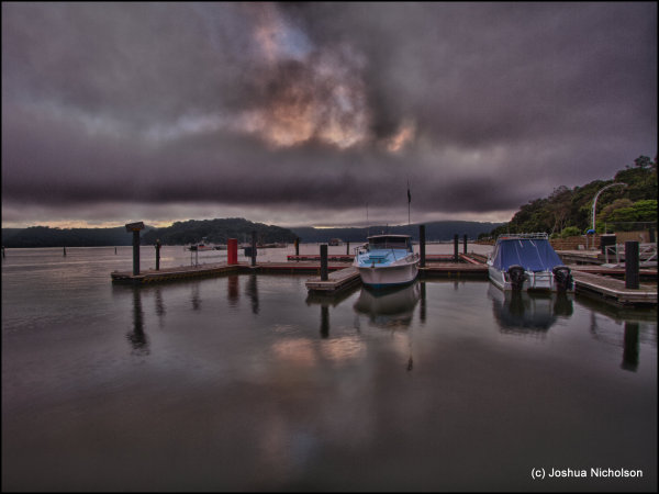Hawksberry river cloudy sunrise brooklyn marina