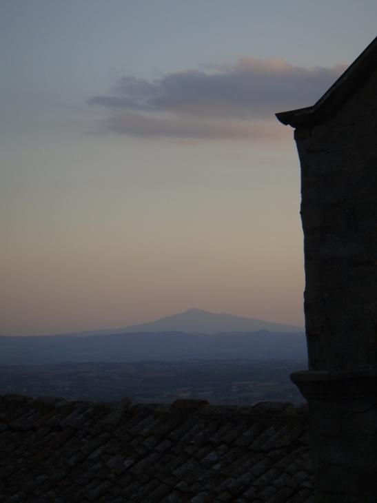 Sunset over Cortona