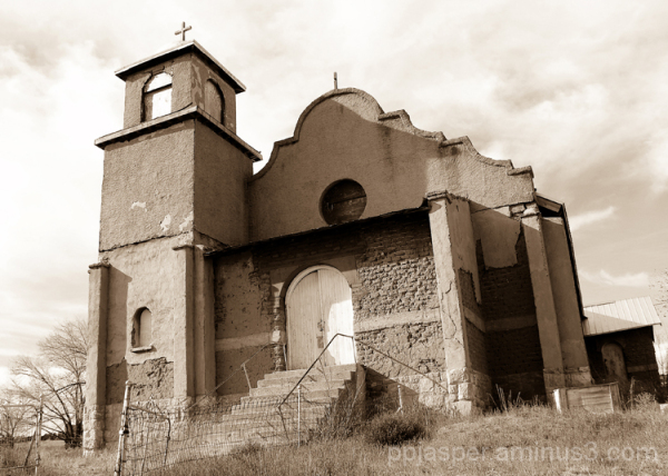Ghostly-like Church - Lamy NM