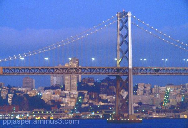 Evening Bay Bridge Scene - '84