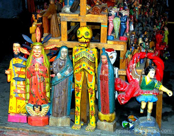 Wooden Santos Etc - Guatemala