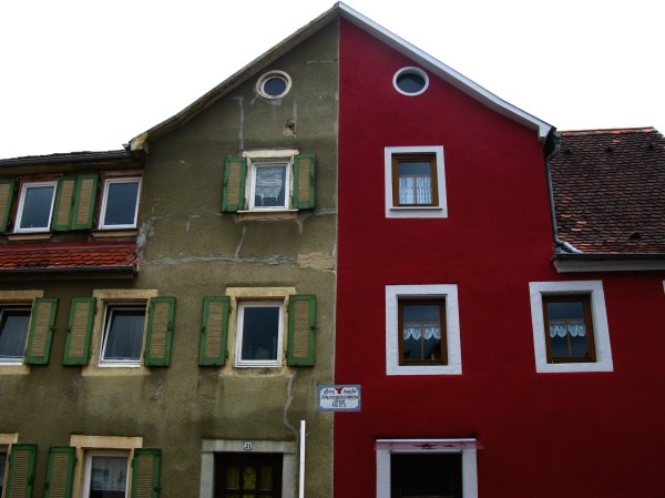 Torn house in Creglingen