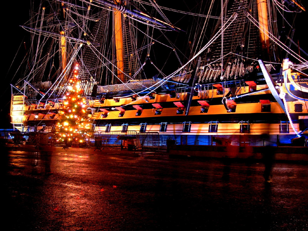 Christmas Tree before the HMS Victory