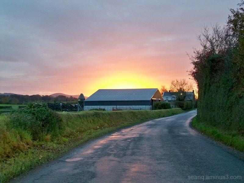 Irish countryside sunset