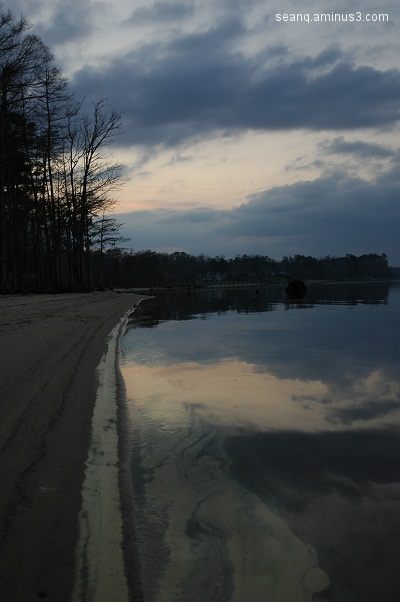 Nuese River Sunset (to the left)