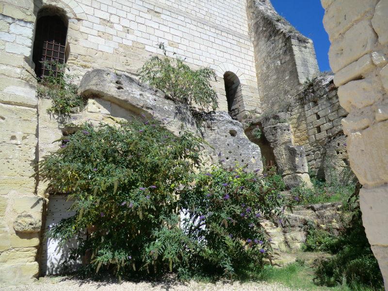 Site troglodytique à la forteresse de Chinon