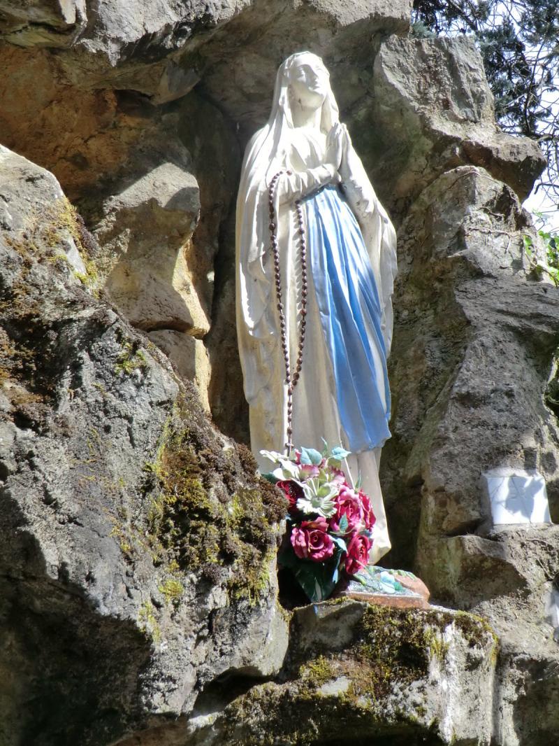 La grotte de la Vierge à Beaupréau