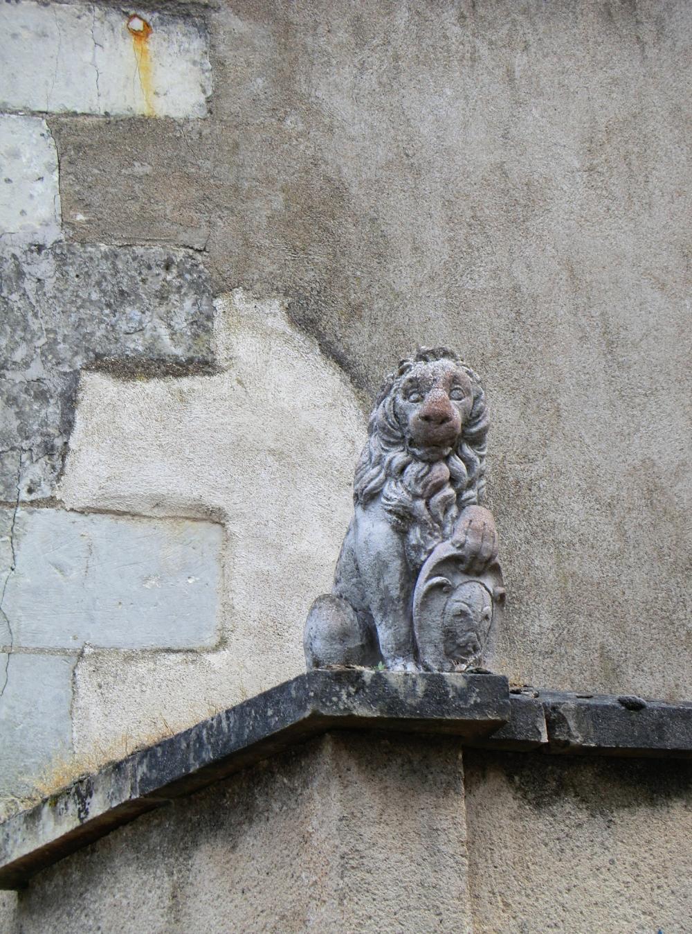 Le Lion rougi à ma sortie des coteaux de vigne....