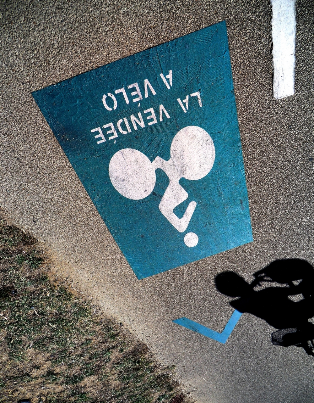 Emporter dans le panier à vélo,l'ombre silhouette