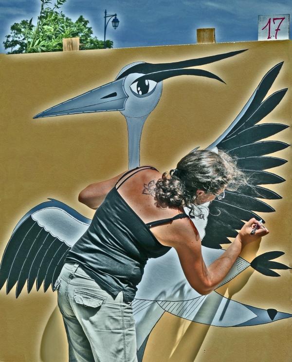 Avoir l'art dans la peau en déployant ses ailes...