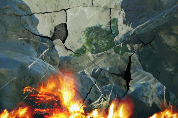 La souffrance déchirant le coeur et l'âme brûlante