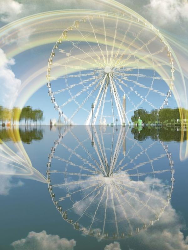 Tourner le reflet du ciel comme des rêves...