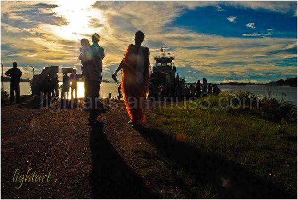 sunset on lake victoria