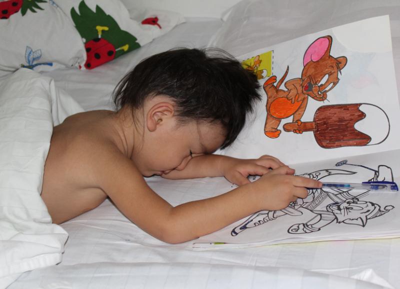Painter sleepy