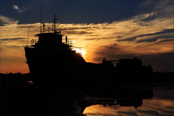 ship run aground ...