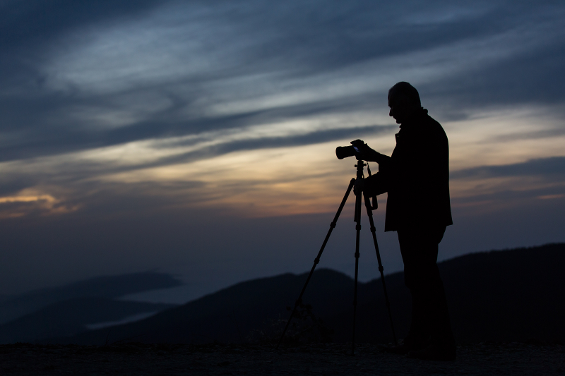 Photography at sunset