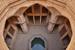 Sunken courtyard