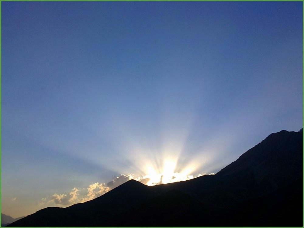 Sun's distributing its light ...