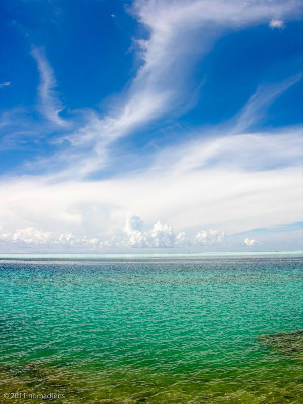Lagoon colours, Huahine, French Polynesia