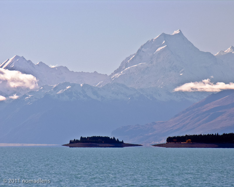 Mount Cook over Lake Pukaki, Canterbury, NZ