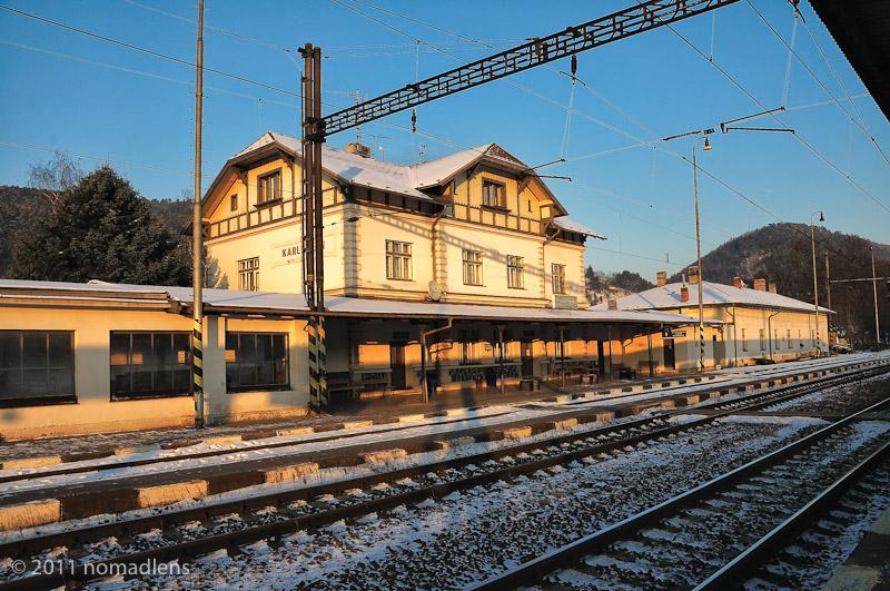 Karlstejn Station, Bohemia, Czech Republic