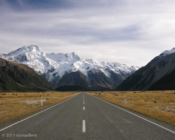 Approaching Mount Cook Village, Canterbury, NZ