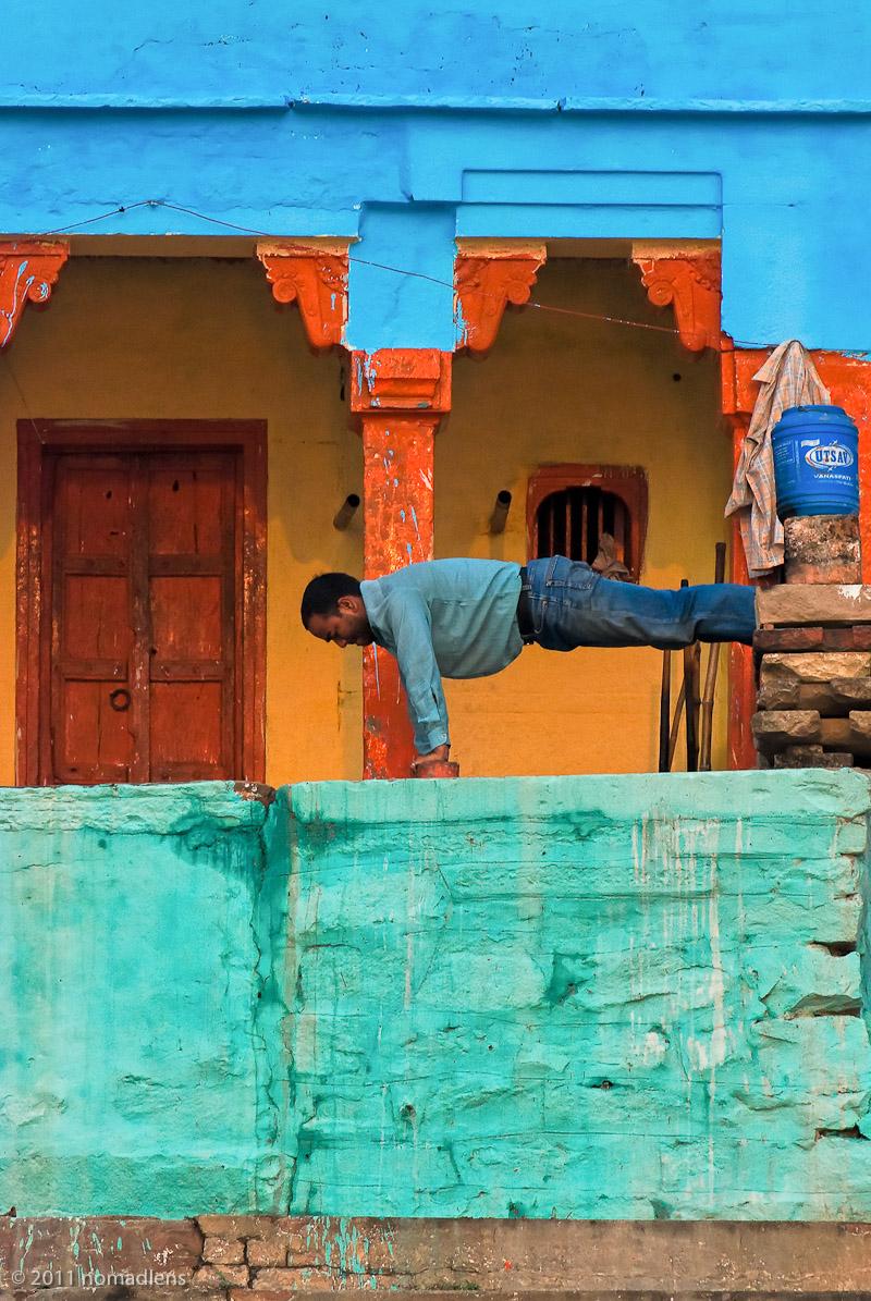 Morning Exercise, Varanasi, Uttar Pradesh, India