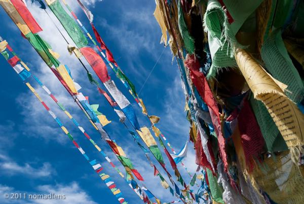 Prayer Flags, Ganden Monastery, U, Tibet