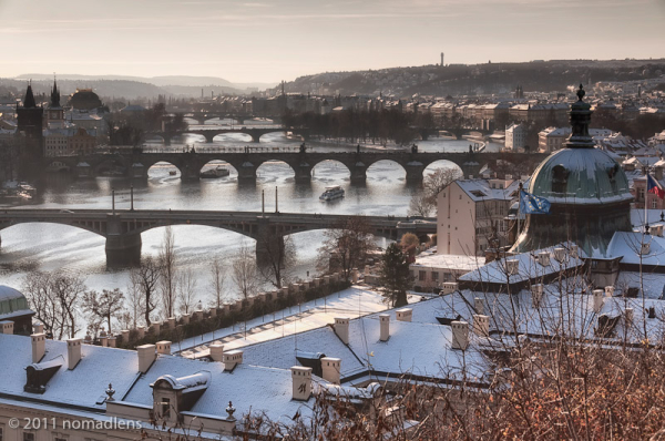 Bridges over the Vlatva, Prague, Czech Republic