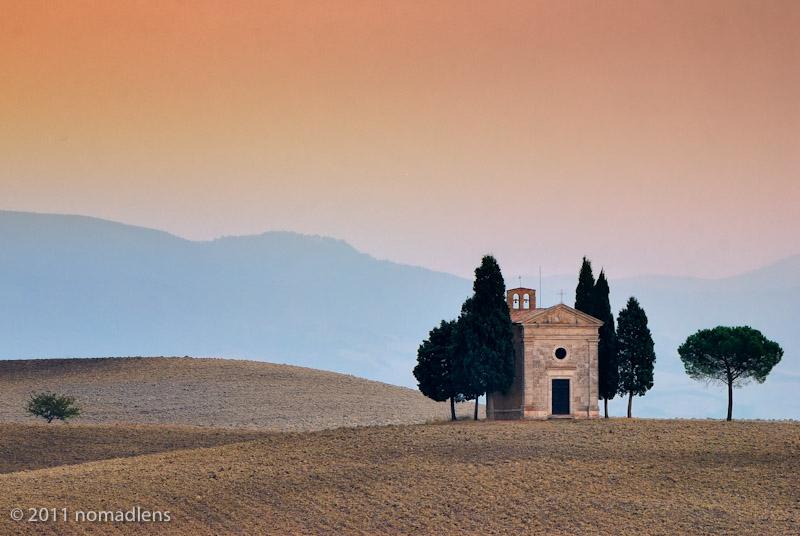 Capella di Vitaletta, Val D'Orcia, Tuscany, Italy