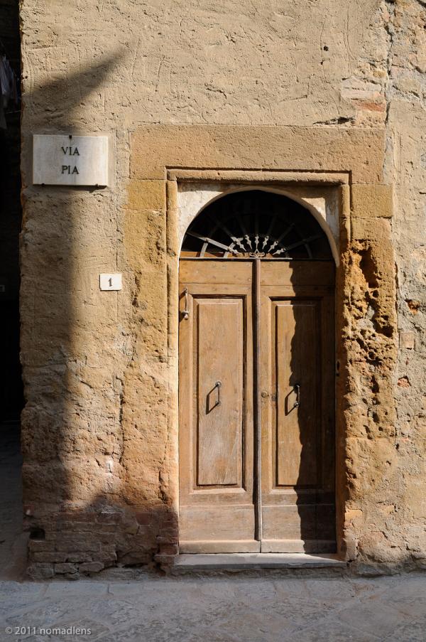 Via Pia, Pienza, Tuscany, Italy