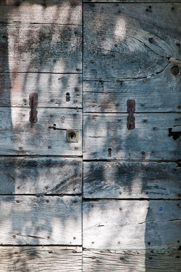 Door, Pienza, Tuscany, Italy