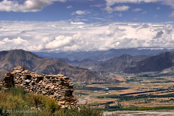 View from Ganden, U, Tibet