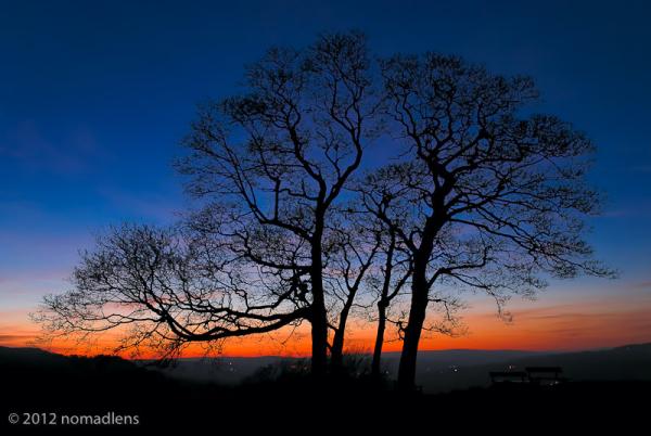 Sunset, Ilkley Moor, West Yorkshire, UK